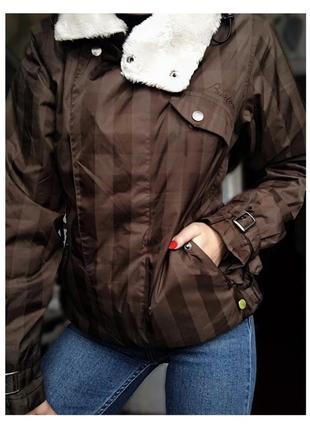 Короткая курточка на тёплую зиму