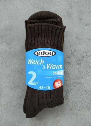 35-38, 43-46 теплые носки без резинки edoo