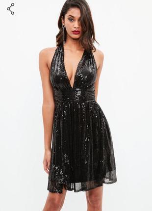 Праздничное платье в пайетки