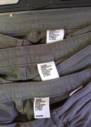 Рваные джинсы скинни цвет хаки размеры 29,31,335 фото