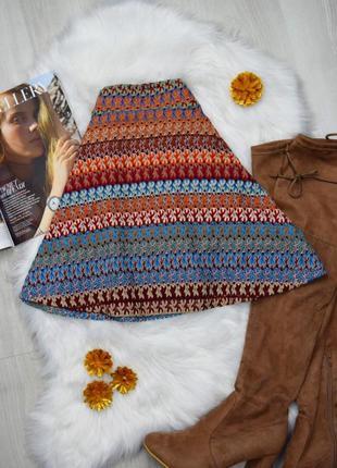 Кружевная мини юбка солнце в полоску