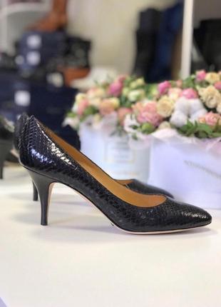 39 р туфли vicini кожа принт змеи италия