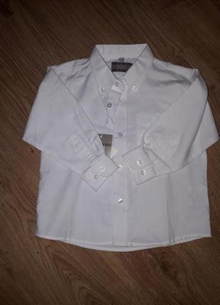 Фирменная белая рубашечка на 2 года от  happy