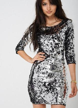 Нереально красивое платье в паетки
