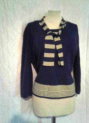 Элегантная синяя вискозная блузочка, l