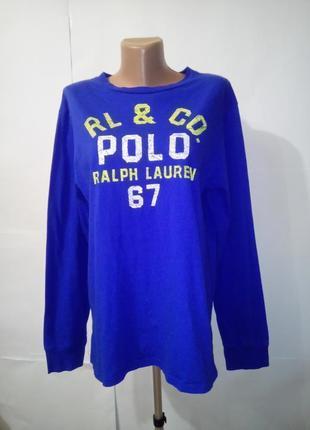 Хлопковая футболка с длинным рукавом ralph lauren uk 18-20 большой размер