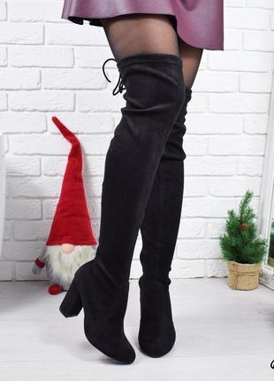 •сапоги женские ботфорты черные