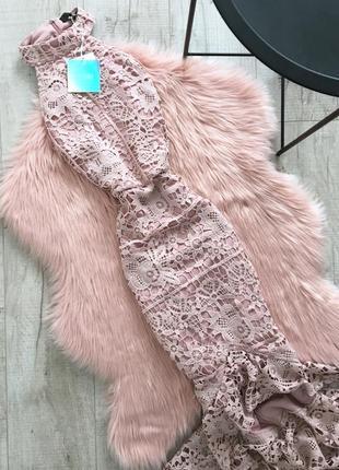 Платье миди с воланами missguided