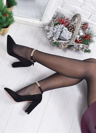 •туфли женские черные