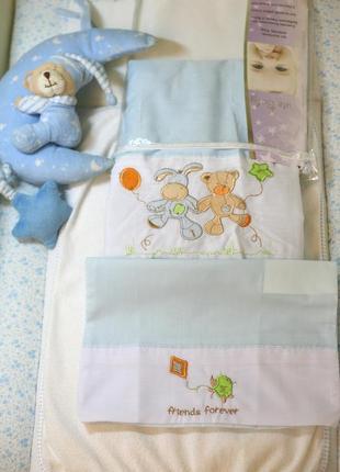 Комплект детского белья для новорожденных с вышивкой