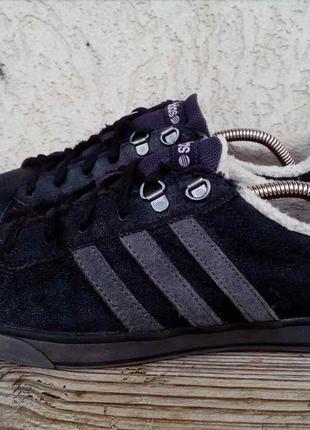 Зимние кеды adidas neo замша 40 2/3 ботинки кроссовки