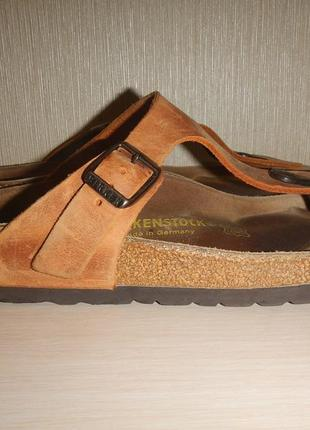 Вьетнамки birkenstock р.38(24,5см) шлепанцы кожаные