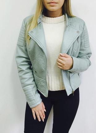 Новая кожаная женская курточка мята atmosphere 10