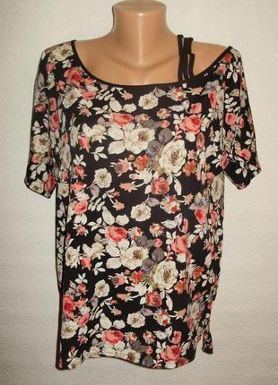 Оригинальная блуза/цветочный принт/14/48-50 размера