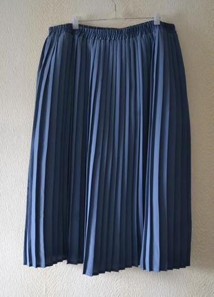 Плиссированная юбка миди большой размер 4xl-6xl  sara neal