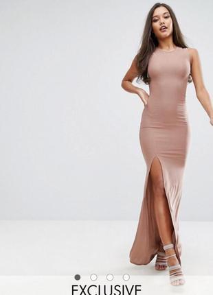 Платье бельевое, длинное, вечернее