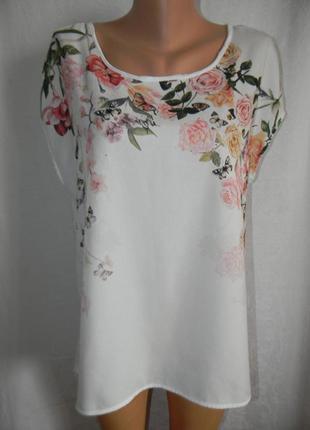 Блуза с нежным принтом tu