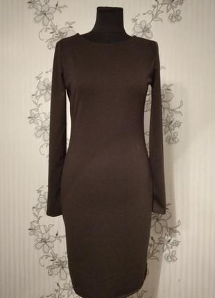 Новое темно-коричневое, шоколадное трикотажное платье, размеры, цвета