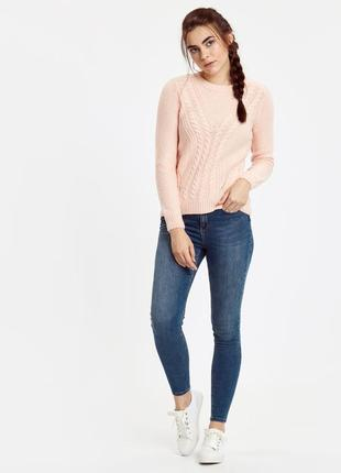 Вязаный свитер/пуловер/кофта/джемпер персиковый lc waikiki