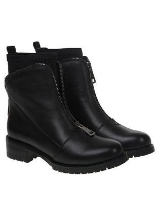 1007б женские ботинки molka,кожаные,на каблуке,на толстой подошве,на низком ходу
