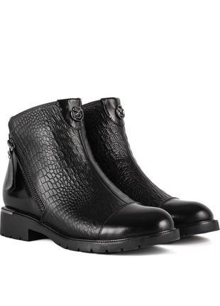 1006б женские ботинки polann,кожаные,на каблуке,на толстой подошве,на низком ходу