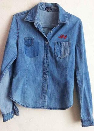 Джинсова рубашка naf-naf