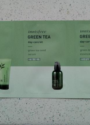 Набор пробников innisfree green tea day-care kit
