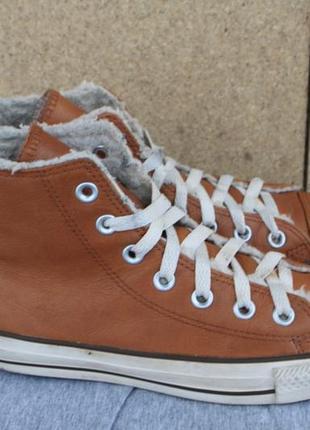 Зимние кеды converse кожа 36 р ботинки