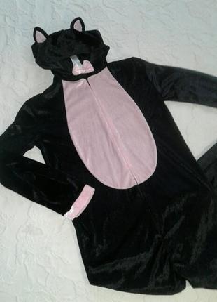 """Подростковый карнавальный костюм,комбинезон """"кошка"""",xxs/xs"""