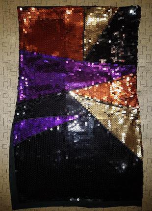 Новогоднее платье бюстье, туника river island в пайетки
