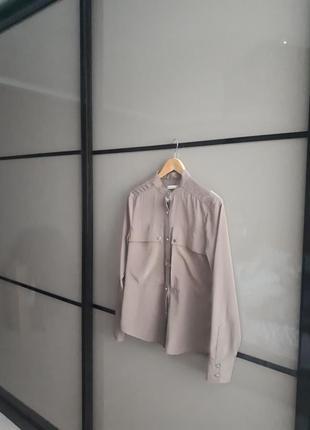 Шелковая брендовая стильная рубашка