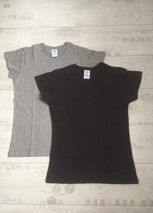 Комплект базовых однотонных футболок 100% коттон размеры испания3 фото
