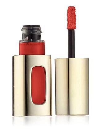 Лаковая губная помада l'oréal#жидкая помада#блеск для губ#