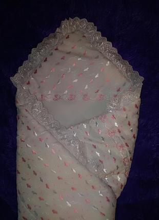Конверт-одеялко для девочки