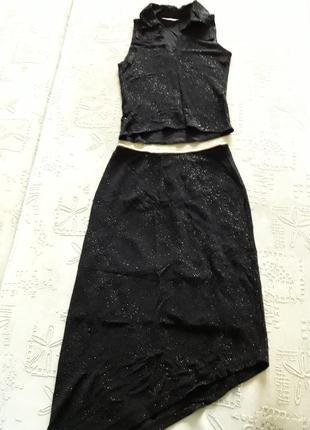 Шикарный костюм, костюм, платье, юбка.