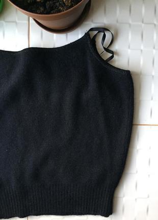 Тёплая модная шерстяная топ-майка под футболки топы united colors of benetton