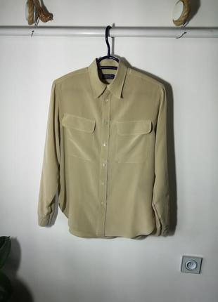 Шёлковая рубашка ralph lauren