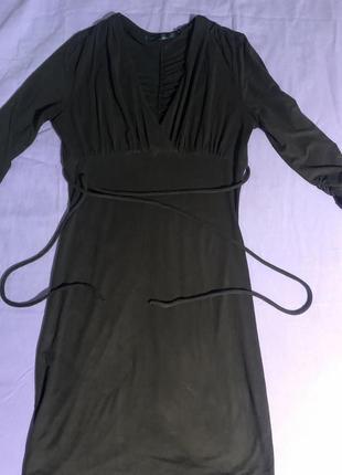 Платье-миди из замша