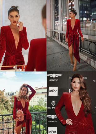Шикарное красное бархатное платье люкс есть цвета и размеры