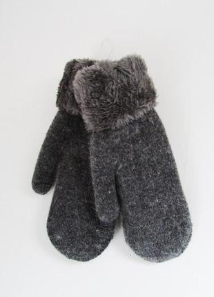 Теплые шерстяные варежки\рукавицы на меху