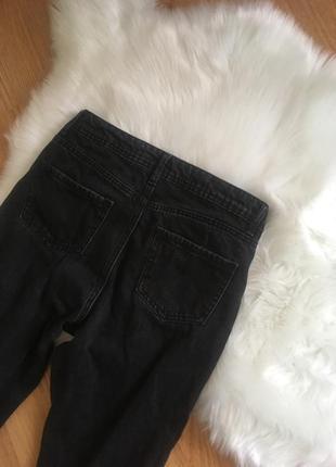 Чёрные mom jeans мом джинс5 фото