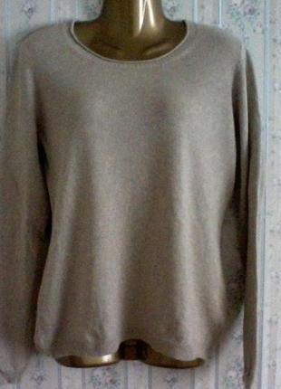 Кашемировый с шелком свитер джемпер, разм.46-48