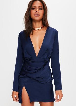 Премиальное платье с длинным рукавом и декоративными швами missguided ms213-10