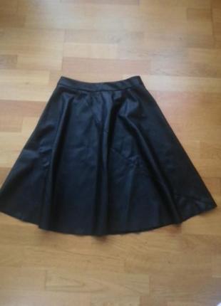 Кожаня юбка amisu