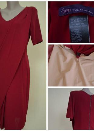 Фирменное, базовое, яркое, миди платье, супер утягивающий ефект marks & spencer