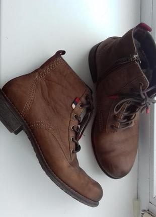 Tamaris сапоги ботинки на низком челси на шнуровке тамарис