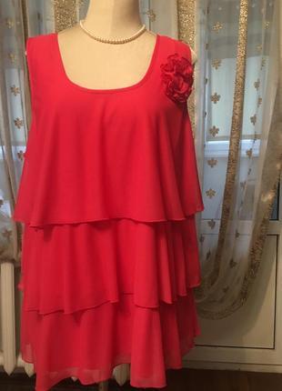 Шикарная нарядная блуза на крупную леди 56-60р