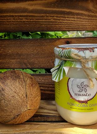 Суперское кокосовое масло! в стекле, нераф., первого отжима, индия! 500 мл