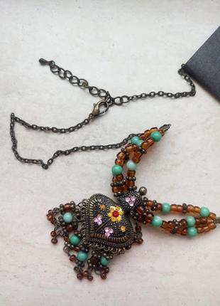 Бусы ожерелье этно украшения бохо колье турция новый год нарядное подарок
