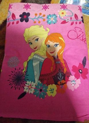 """Детское постельное белье для девочки из ранфорса""""сестры ельза и анна"""""""